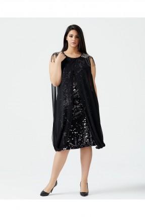 فستان رسمي مزين بالترتر