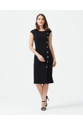 فستان سبور مزين من الجنب