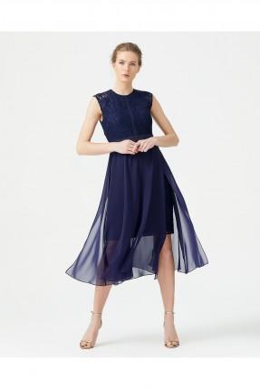 فستان رسمي مزين بالشيفون