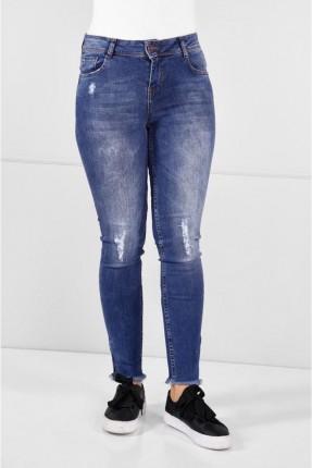 بنطال نسائي جينز ممزق بجيب