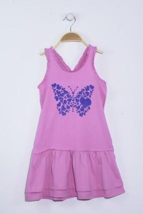 فستان اطفال بناتي مع رسمة فراشة