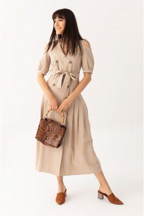 فستان بفتحات على الاكتاف