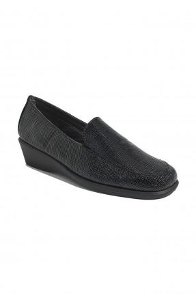 حذاء نسائي بنعل عريض - اسود