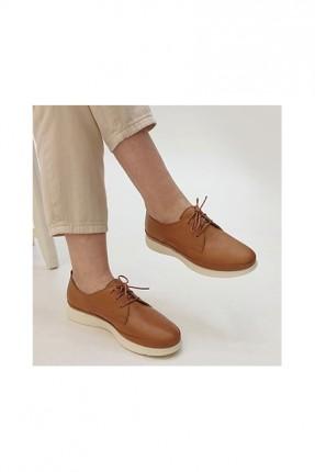حذاء نسائي باربطة - بني
