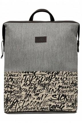حقيبة ظهر نسائية بطبعة حروف