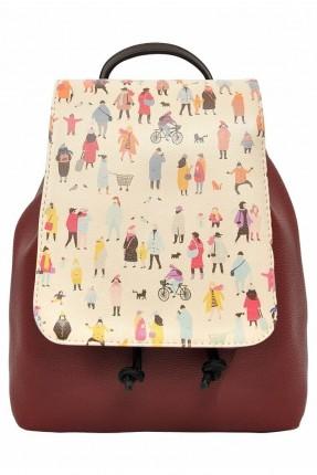 حقيبة ظهر نسائية بطبعة رسومات