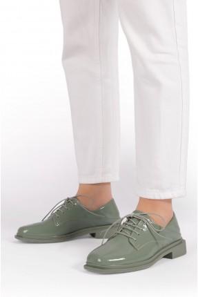 حذاء نسائي باربطة وكعب - اخضر
