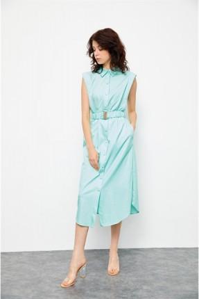 فستان قصير مزين بجيوب مخفية