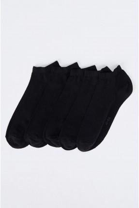 جوارب رجالية سادة اللون عدد 5 - اسود