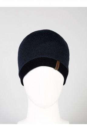 قبعة رجالية منقوشة - كحلي