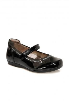 حذاء اطفال بناتي بشريط لاصق - اسود