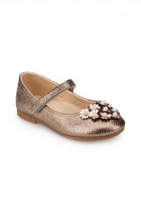 حذاء اطفال بناتي مزين بورود