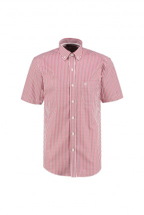 قميص رجالي نصف كم كارو