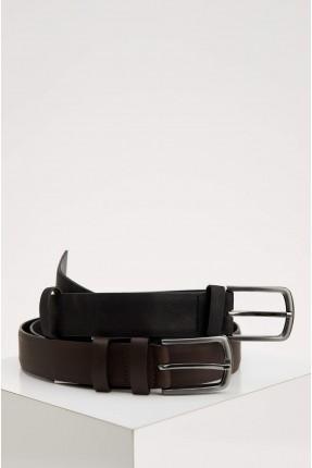 حزام رجالي سادة اللون عدد 2