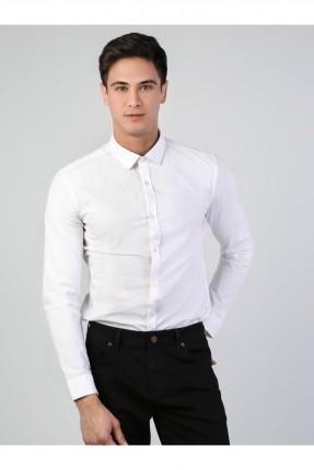قميص رجالي كلاسيكي - ابيض