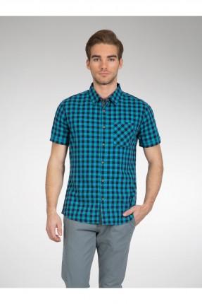 قميص رجالي مزين بنقشة مربعات