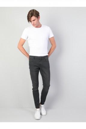 بنطال جينز رجالي - رمادي