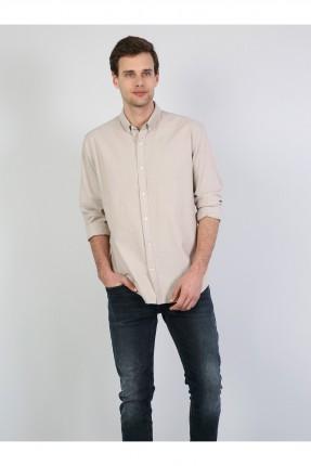 قميص رجالي مزين بازرار