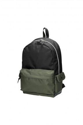 حقيبة ظهر رجالية مزينة بجيب خارجي مغاير اللون