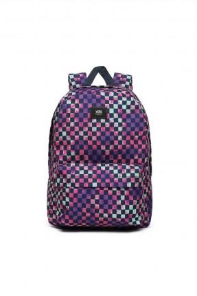 حقيبة ظهر رجالية بنقشة ملونة