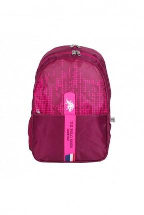 حقيبة ظهر نسائية بنقشة وبطبعة شعار الماركة