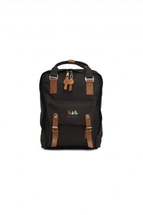 حقيبة ظهر نسائية باحزمة وبكلات - اسود