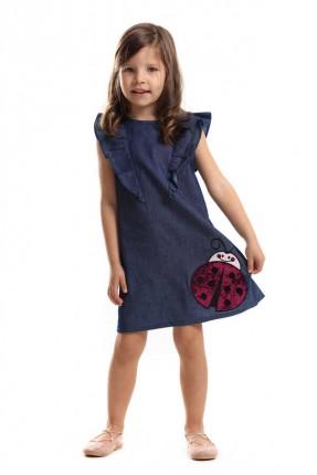 فستان اطفال بناتي مزين بكشكش