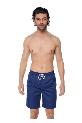 شورت سباحة رجالي بخصر رباط - ازرق داكن