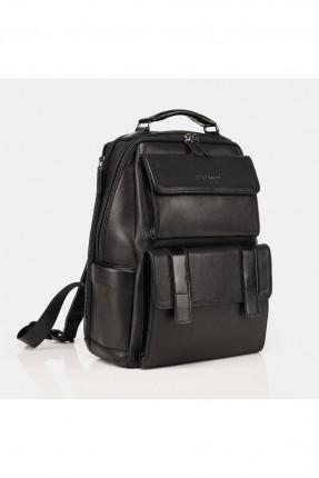 حقيبة ظهر رجالي جلد - اسود