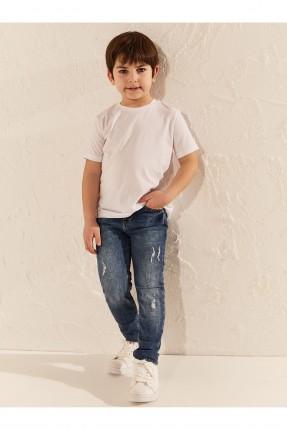 بنطال جينز اطفال ولادي سكيني فيت