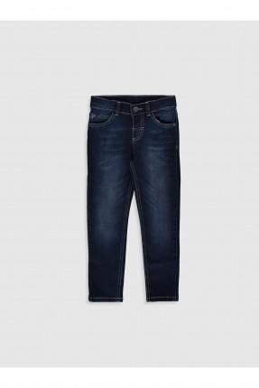 بنطال جينز اطفال ولادي ضيق غامق