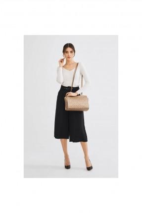 حقيبة يد نسائية بنقشة وحزام