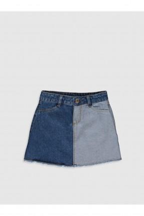 تنورة جينز اطفال بناتي لونين