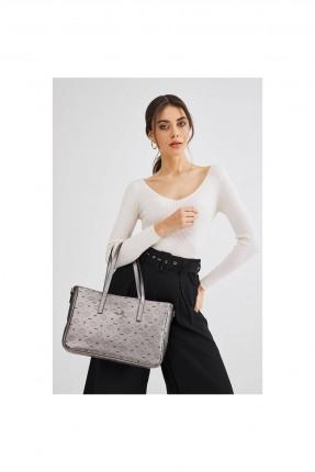 حقيبة يد نسائية بنقشة وحمالات