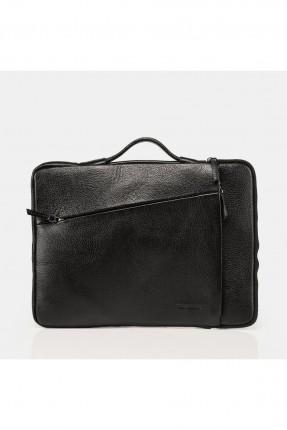 حقيبة يد رجالية جلد يجيب - اسود