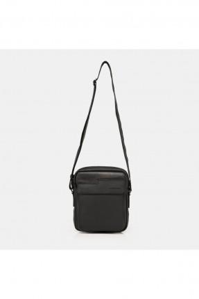 حقيبة يد رجالية جلد بحزام - اسود