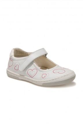 حذاء اطفال بناتي بنقشة ولاصق - ابيض