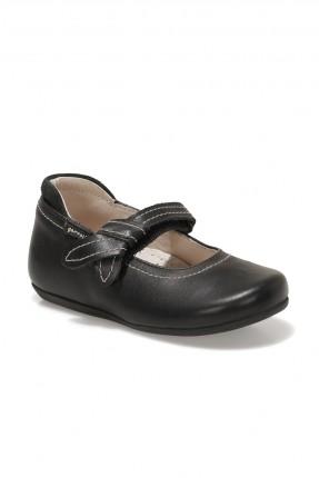 حذاء بيبي بناتي برباط - اسود