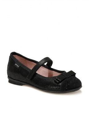 حذاء اطفال بناتي مزين ببيونة ونقشة لامعة
