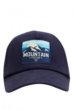 قبعة رجالية بطبعة رسمة - كحلي