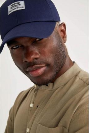 قبعة رجالية سادة - كحلي
