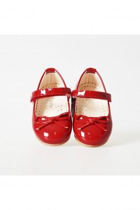 حذاء بيبي بناتي مزين بفيونكة - احمر
