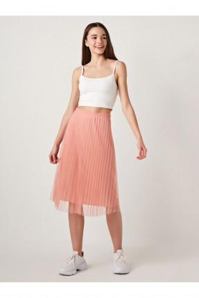 تنورة قصيرة مزينة بتول - زهري