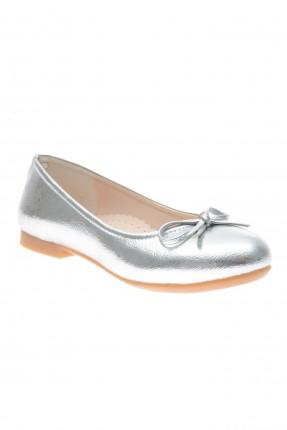 حذاء اطفال بناتي مزين بفيونكة - رمادي