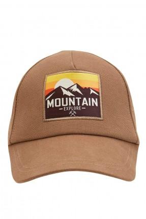 قبعة رجالية بطبعة - بيج
