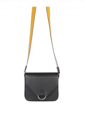 حقيبة يد نسائية مزينة برز مخفي - اسود