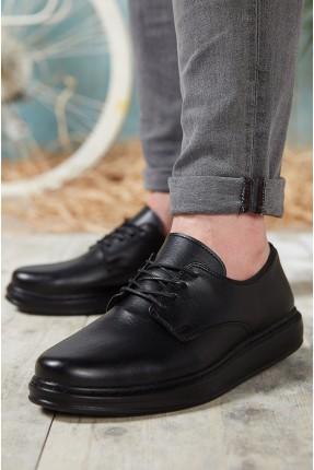 حذاء رجالي باربطة - اسود
