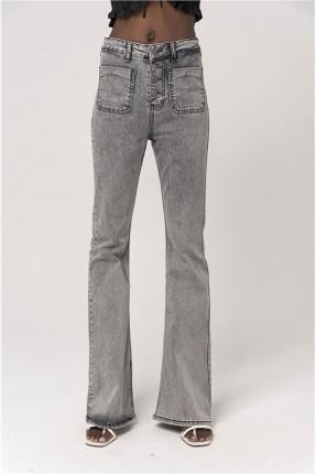 بنطال جينز نسائي بجيوب بارزة