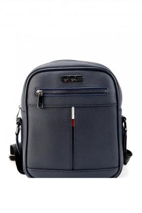 حقيبة يد رجالية بسحاب و حزام - كحلي