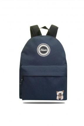 حقيبة ظهر رجالية بطبعة - ازرق